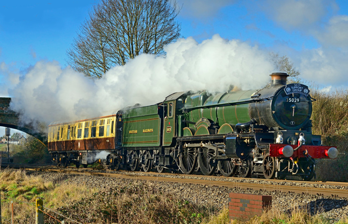 steam train in Hungerford Common