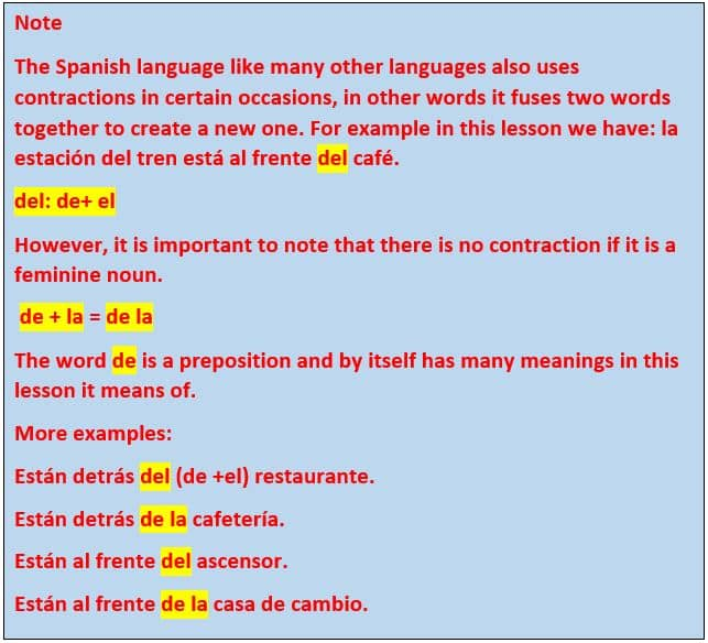 contraction in spanish 2