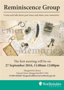 Reminiscence Group at Hungerford Library @ Hungerford Library | Hungerford | England | United Kingdom