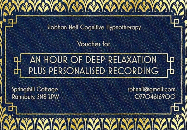 Personal Relaxation Gift Vouchers
