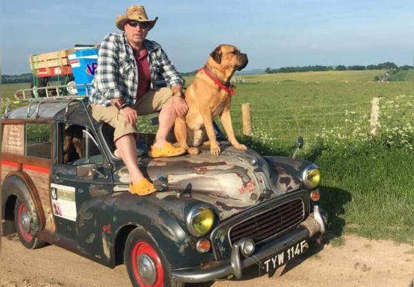Zen Dog Whisperer Ken Stronach and Big Mervyn his Bull Mastiff