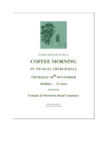 Coffee Morning @ Saint Nicolas, Newbury   England   United Kingdom
