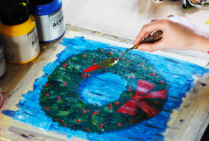 Painted Wreath workshop with Armadillo Art Experience @ Hungerford Youth & Community Centre | England | United Kingdom