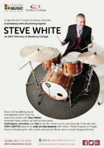 Drum Lessons and Workshop with Steve White @ Newbury College