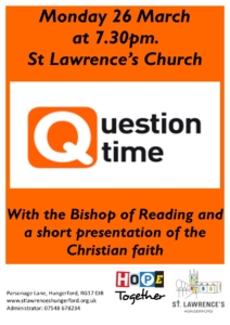 Question Time at Saint Lawrence, Hungerford @ St Lawrence's Church | England | United Kingdom