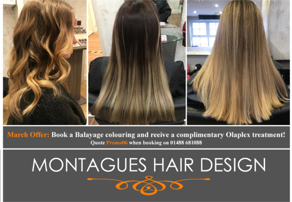 March Offer at Montagues Hair Design