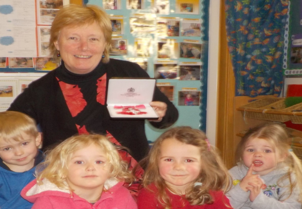 Suzanne Taylor receives MBE for services to education