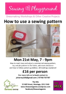 How to use a sewing pattern @ The Mix, Wantage | England | United Kingdom