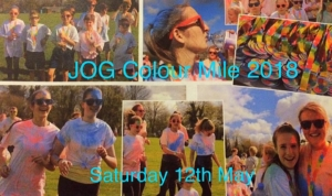 JOG Colour Mile 2018 @ John O' Gaunt School   England   United Kingdom