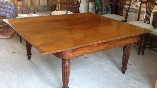 Victorian Dining Table and Georgian Chairs for Sale