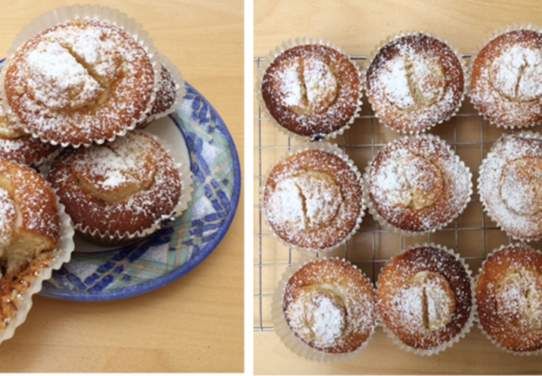 Gooseberry or Rhubarb Fool Cup Cakes