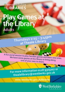Play Games @ Theale Library @ Theale Library | Theale | England | United Kingdom