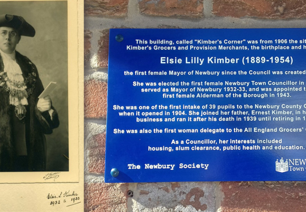 Blue Plaque commemorates Newbury's first female mayor