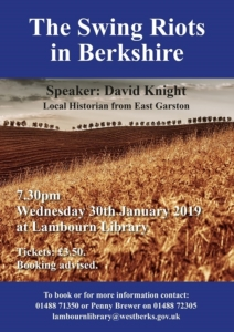 Local History Talk: Swing Riots in Berkshire @ Lambourn Library | Lambourn | England | United Kingdom