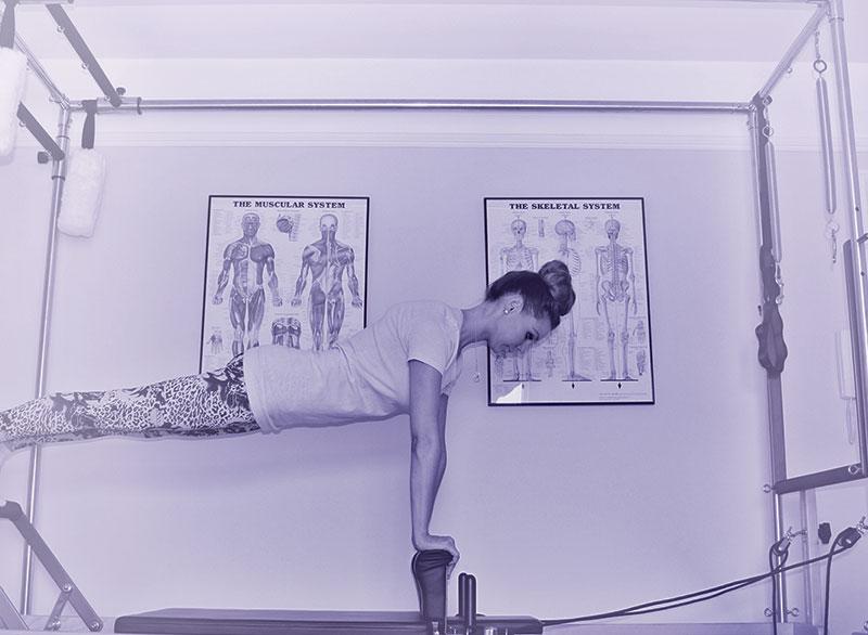 Pilates Instructor demonstration