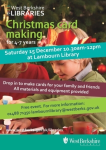 Christmas Card Making for 4-7 year olds @ Lambourn Library | Lambourn | England | United Kingdom