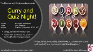 Quiz and Curry Night! @ Boxford Village Hall | Boxford | England | United Kingdom