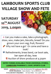 Lambourn Village Show And Fete 2019 @ Lambourn Sports Club | Lambourn | England | United Kingdom