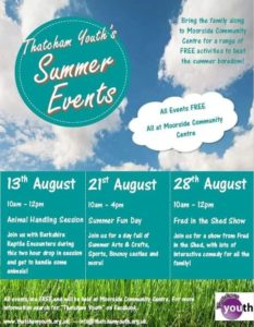 Summer Youth Events in Thatcham @ Moorside Community Centre | England | United Kingdom