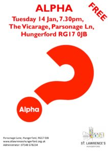 Alpha Course at Saint Lawrence, Hungerford @ St Lawrence's Church Vicarage | England | United Kingdom