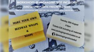 Beeswax Wraps and Soaps Workshop @ Movida | England | United Kingdom