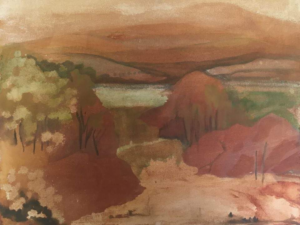 In the Footsteps of Stanley Spencer: exhibition by Jen Gash - Sky Landscape Artist of the Year 2018 @ Sandham Memorial Chapel | Burghclere | England | United Kingdom