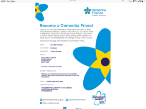 Dementia Information Session @ Hungerford Library | England | United Kingdom