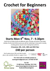 Crochet for Beginners @ The Mix, Wantage | England | United Kingdom