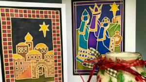 Workshop: Silk Painted Christmas Cards @ Shaw House | England | United Kingdom