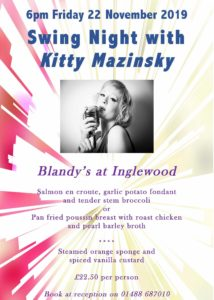 Dinner & Swing Night with Kitty Mazinsky @ Blandy's at Inglewood | Kintbury | England | United Kingdom
