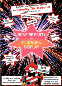 Bonfire Party and Firework Display- Ashampstead Recreation Ground @ Ashampstead Recreation Ground | Ashampstead | England | United Kingdom