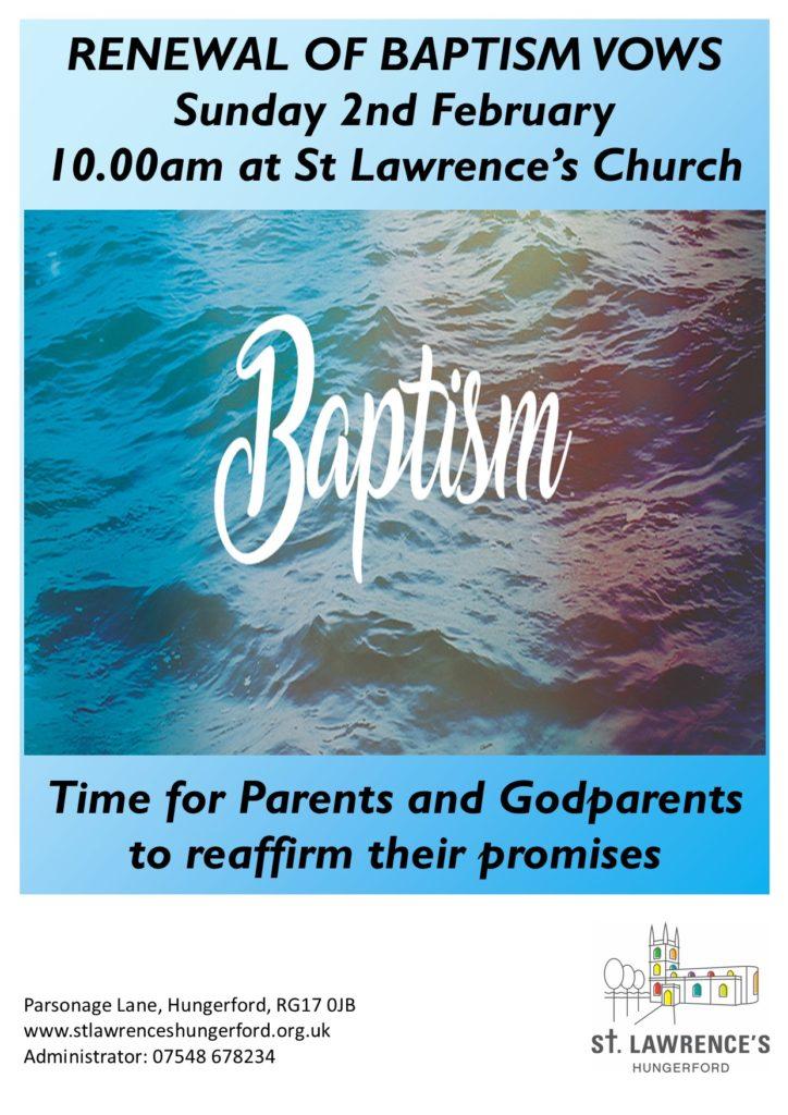 Renewal of Baptism Vows 2020