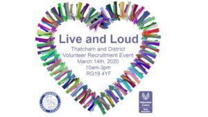 Live and Loud Thatcham Volunteer Recruitment Event @ Thatcham Baptist Church | England | United Kingdom
