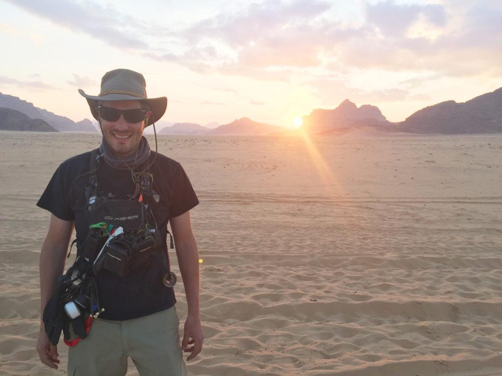 Sunset over the sand dunes when Tom was on set in Jordan for Star Wars Episode 9