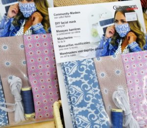 DIY Face Covering sewing kits from Crown Needlework in Hungerford