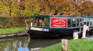 Rose of Hungerford canal boat