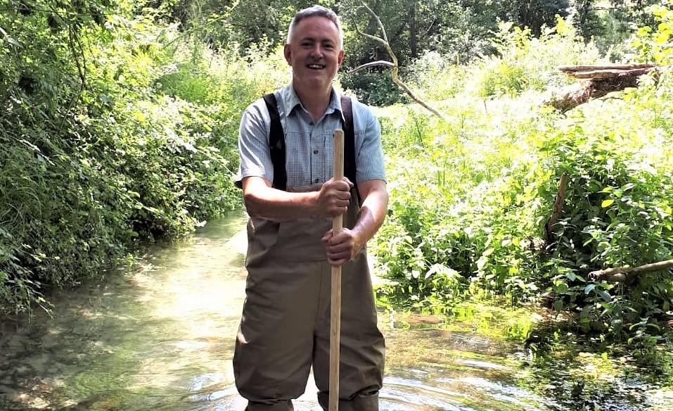 Mark Bradfield in Letcombe Brook