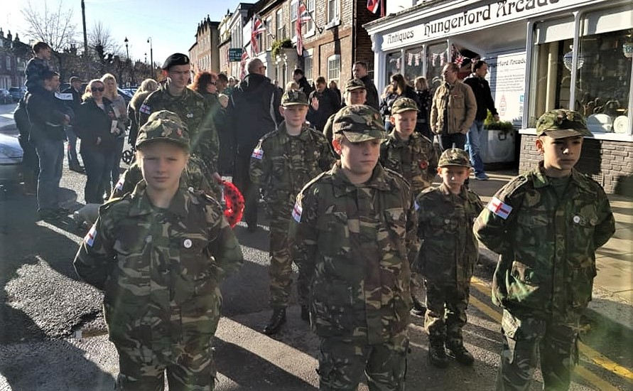 Wessex Rangers on parade